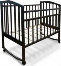 Кроватка Агат Золушка-1 колесо-качалка, шоколад