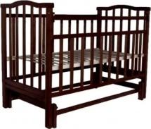 Кроватка Агат Золушка-3 маятник, шоколад