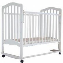 """Кроватка """"Лаура-6"""" 120х60, колесо-качалка, слоновая кость, Лаура"""