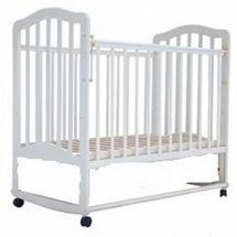 "Кроватка ""Лаура-6"" 120х60, колесо-качалка, белый, Лаура"