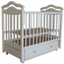 """Кроватка """"Лаура-8"""" 120х60 , маятник поперечный, ящик, слоновая кость, Лаура"""