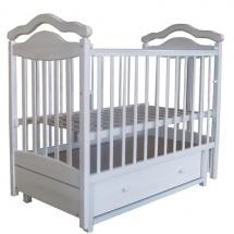 """Кроватка """"Лаура-8"""" 120х60, маятник поперечный, ящик, белый, Лаура"""