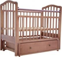 Кроватка Лаура 5 маятник поперечный, ящик, орех