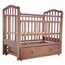 """Кроватка """"Лаура-5"""" 120х60 , маятник поперечный, ящик, орех, Лаура"""
