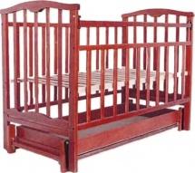 Кроватка Агат Золушка-6 маятник продольный с ящиком, вишня