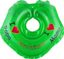 """Круг на шею Baby Swimmer """"Я люблю"""" зеленый 3-12 кг"""