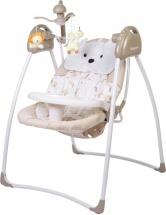Электрокачели Baby Care Butterfly с адаптером, латте