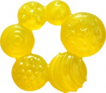 Прорезыватель Lubby Геометрия с водой, желтый
