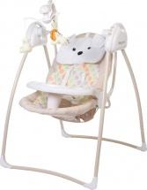 Электрокачели Baby Care Butterfly с адаптером, бежевый