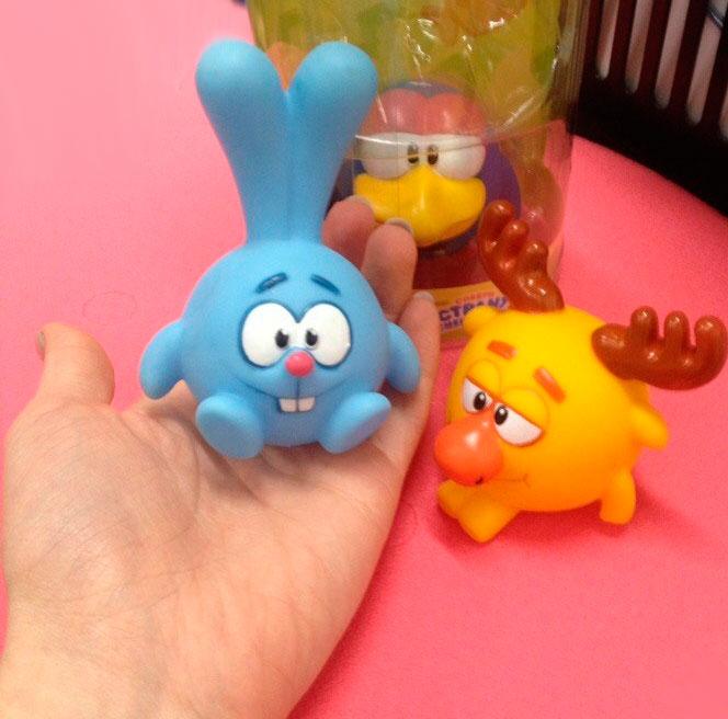 Смешарики игрушки резиновые купить